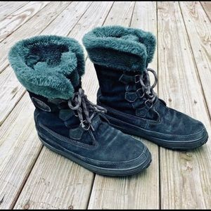 Timberland Lace Black Suede Mukluk Boots 10 M